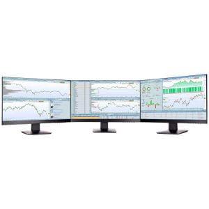 Station de trading 3 écrans