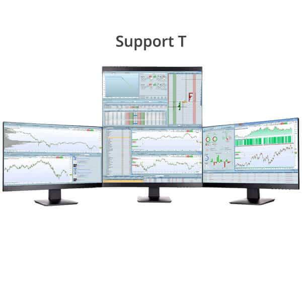 Station de trading 4 écrans support T
